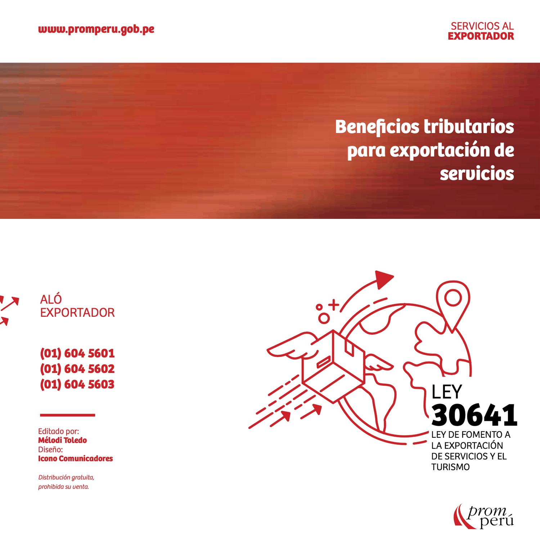 FOLLETO BENEFICIOS TRIBUTARIOS